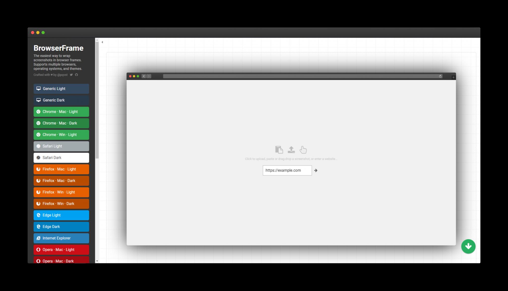 BrowserFrame - 無需任何修圖技術即可為網頁截圖加上瀏覽器外框